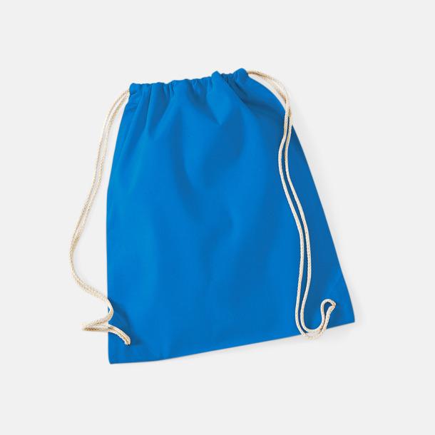 Sapphire Blue Gympapåsar i bomull med reklamtryck