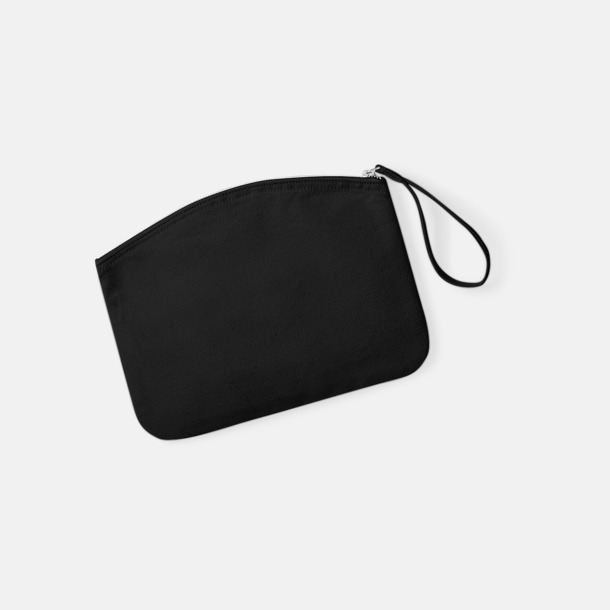 Svart Eko plånbok eller necessär i 2 storlekar med reklamtryck