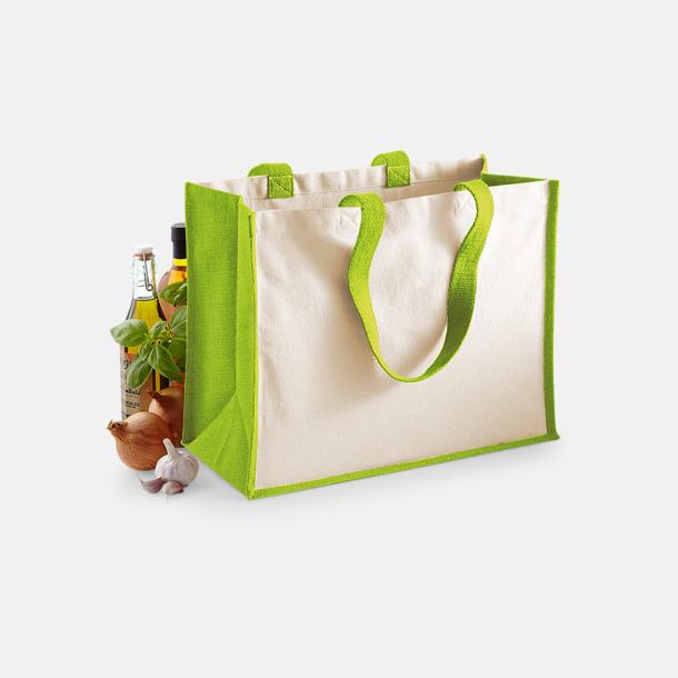 Stora shoppingbagar i jute med reklamtryck