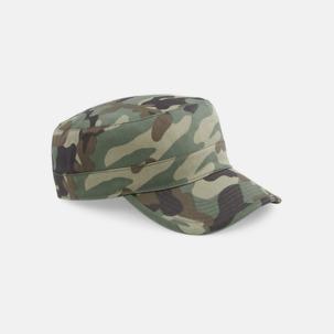 Kamouflage mönstrade army kepsar med reklamtryck