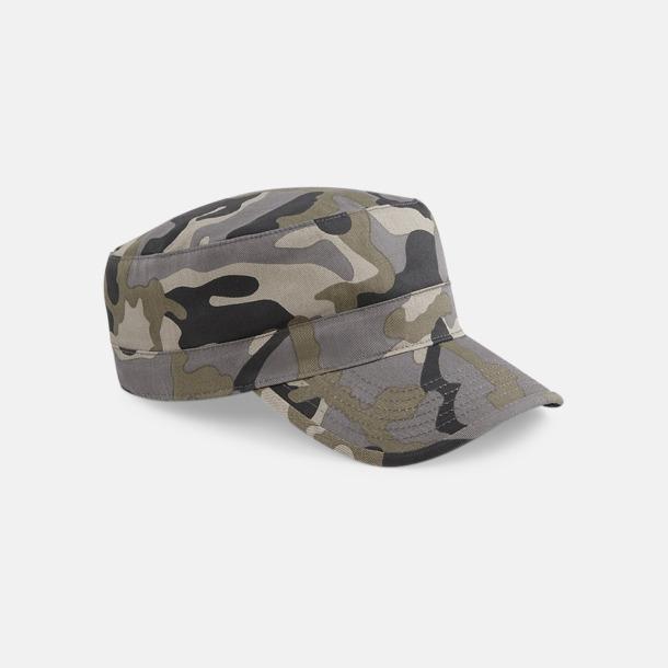 Field Camo Kamouflage mönstrade army kepsar med reklamtryck