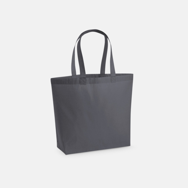 Graphite Grey Stor tygkasse i premium bomull med reklamtryck