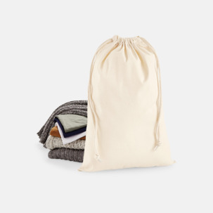 Premium bomullspåsar i flera storlekar - med reklamtryck