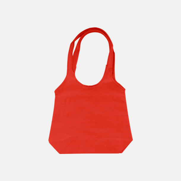 Röd Trendiga tygväskor med reklamtryck