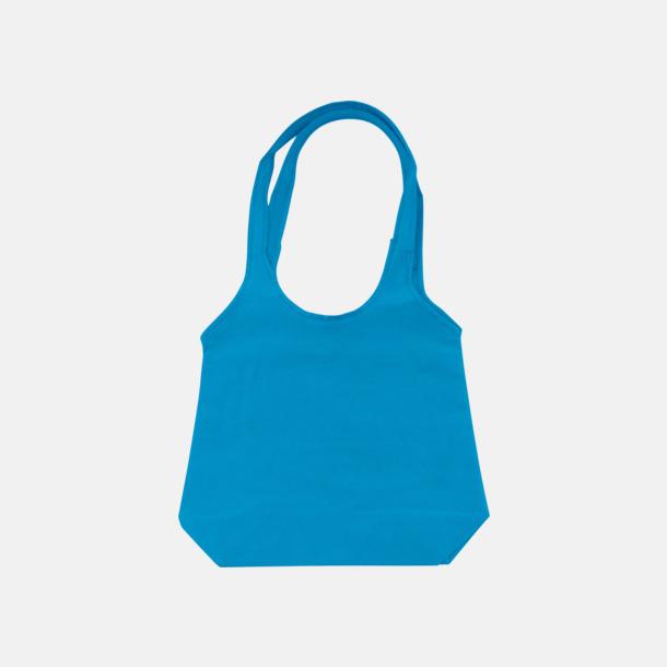 Mid Blue Trendiga tygväskor med reklamtryck