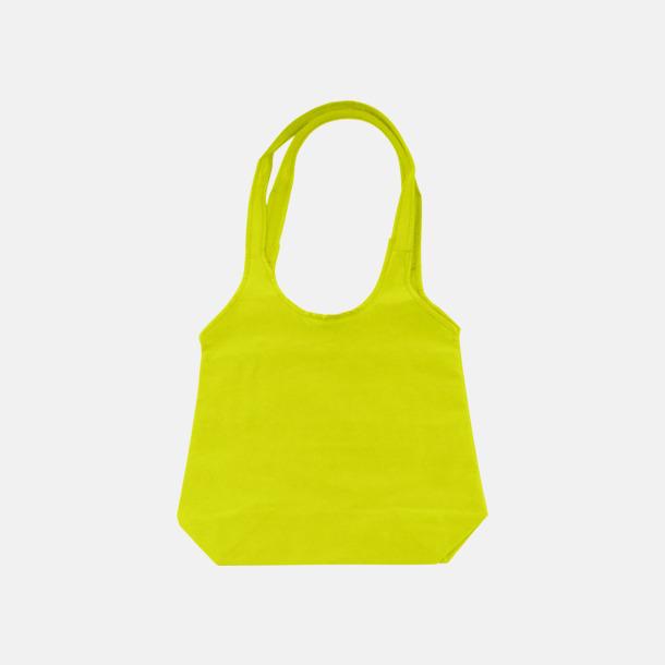 Lime Trendiga tygväskor med reklamtryck