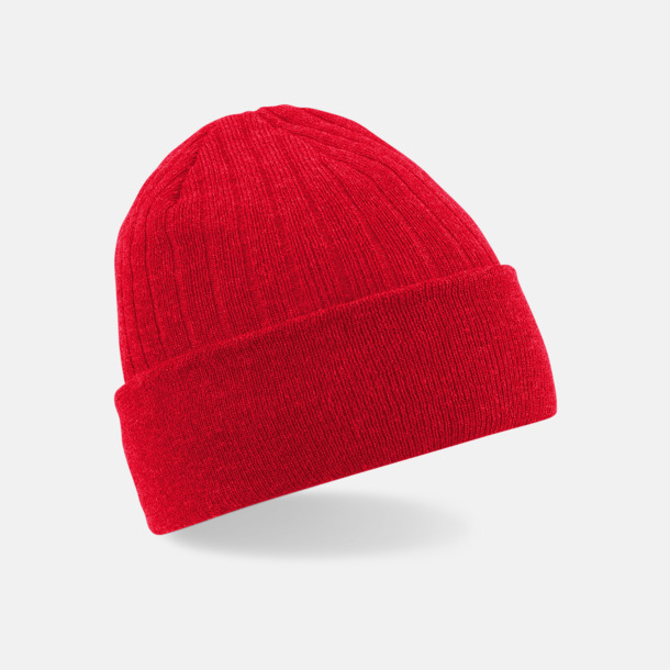 Classic Red Tunna och varma vintermössor med reklambrodyr
