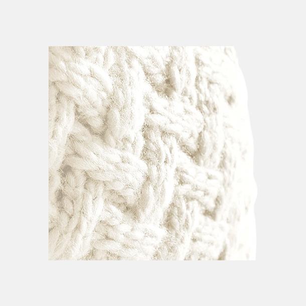 Suprafleece mössor i stickat mönster med reklambrodyr