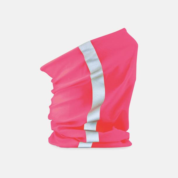 Flocerande Rosa/Reflex Halskragar med reflexer och flouroscerande färg - med eget tryck