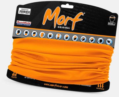 Orange Halskragar i många färger med reklamlogo