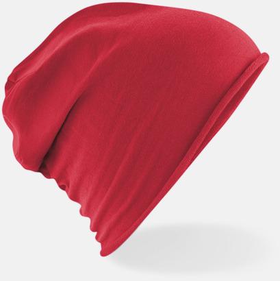 Röd Tunna beaniemössor med reklamlogo