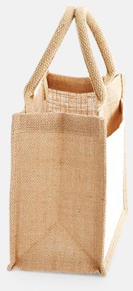 Sida (6 liter) Shopping jutekassar med bomullsficka med reklamtryck