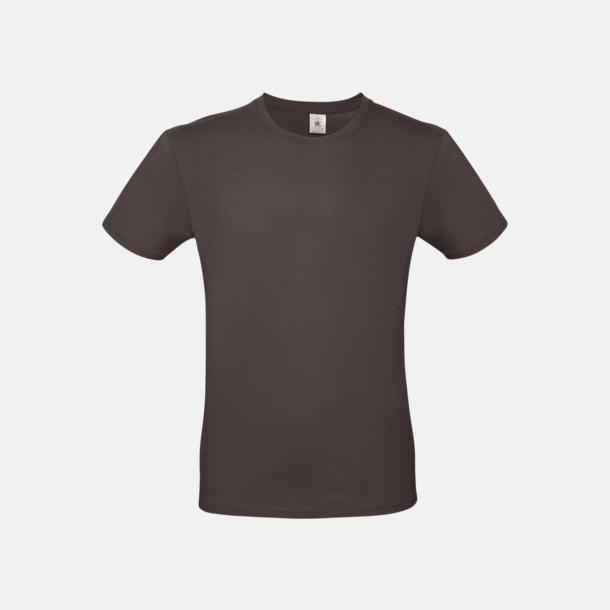 Bear Brown (herr) Fina kvalitets bas t-shirts med reklamtryck