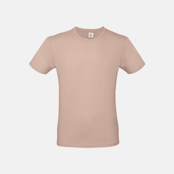 Millennial Pink (herr) Fina kvalitets bas t-shirts med reklamtryck