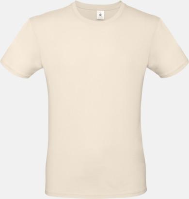 Natur (herr) Fina kvalitets bas t-shirts med reklamtryck
