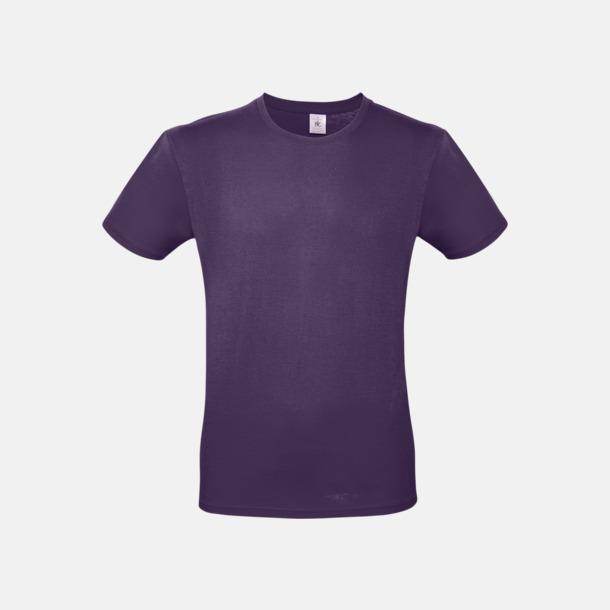 Urban Purple (herr) Fina kvalitets bas t-shirts med reklamtryck