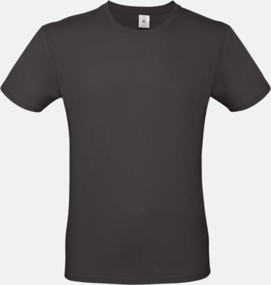 Used Black (herr) Fina kvalitets bas t-shirts med reklamtryck