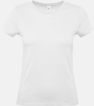 Vit (dam) Fina kvalitets bas t-shirts med reklamtryck