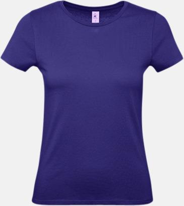 Urban Purple (dam) Fina kvalitets bas t-shirts med reklamtryck