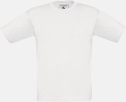 Vit (barn) Fina kvalitets bas t-shirts med reklamtryck