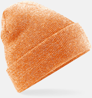 Heather Orange Stickad mössa i många färgstarka alternativ