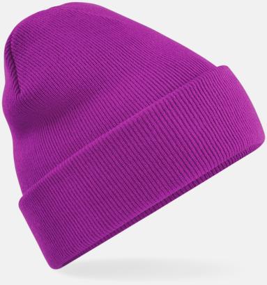 Magenta Stickad mössa i många färgstarka alternativ