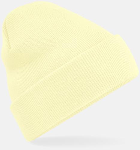 Pastel Lemon Stickad mössa i många färgstarka alternativ