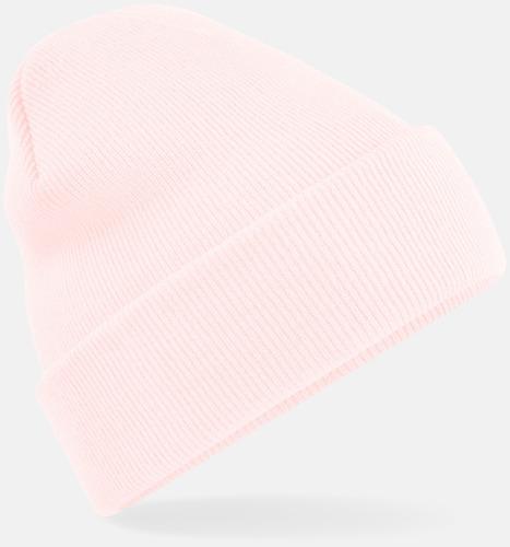 Pastel Pink Stickad mössa i många färgstarka alternativ
