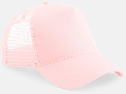 Pastel Pink Truckerkepsar med tryck eller brodyr