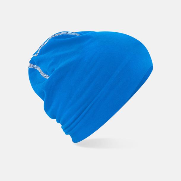 Sapphire Blue/Vit Sportmössor med kontrastsömmar med reklamtryck