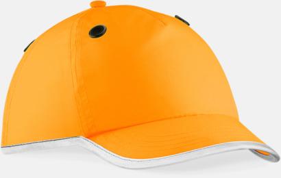 Floucerande Orange Extra synliga EN812-hjälmkepsar med reklamlogo
