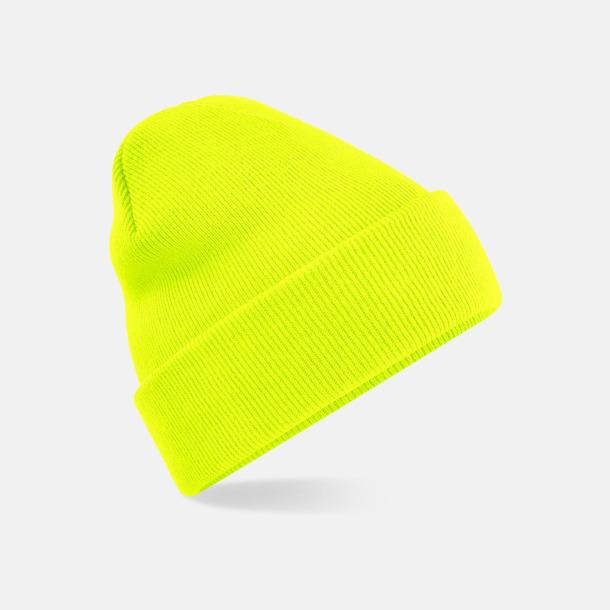 Fluorescent Yellow Färgglada beaniemössor för barn - med reklamlogo