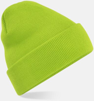 Limegrön Stickad mössa i många färgstarka alternativ