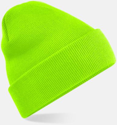Fluorescent Green Stickad mössa i många färgstarka alternativ