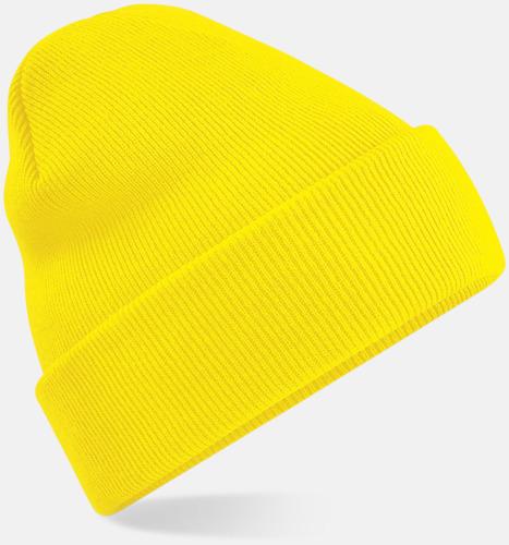 Gul Stickad mössa i många färgstarka alternativ