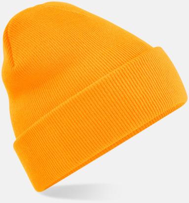 Fluorescent Orange Stickad mössa i många färgstarka alternativ