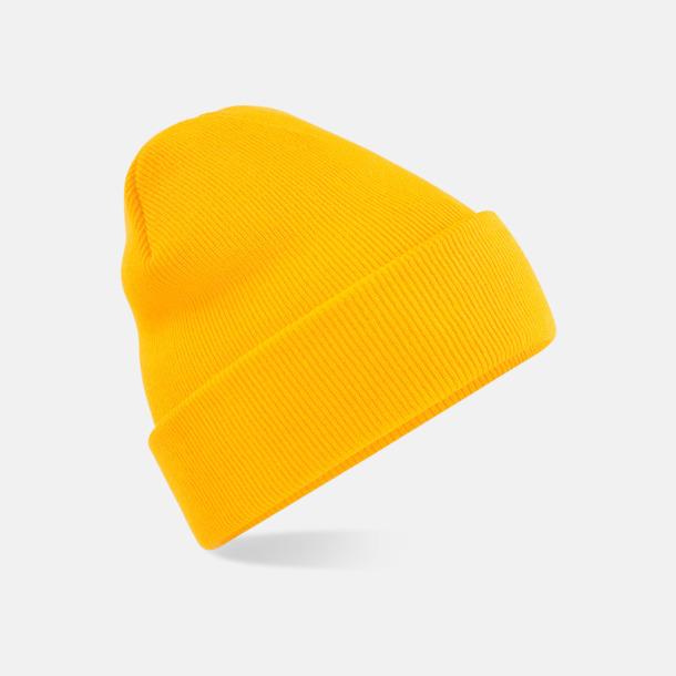 Gold Stickad mössa i många färgstarka alternativ