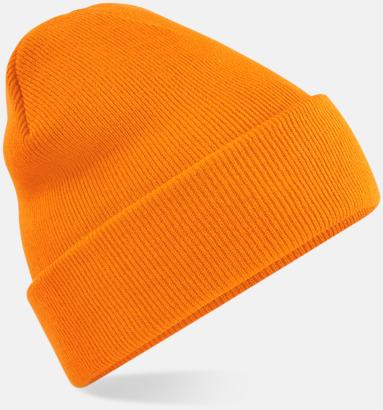 Orange Stickad mössa i många färgstarka alternativ