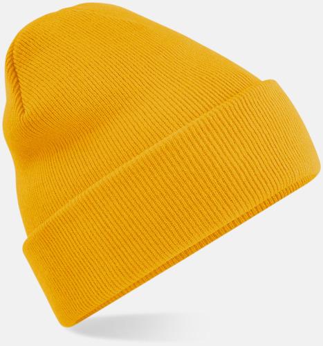 Mustard Stickad mössa i många färgstarka alternativ
