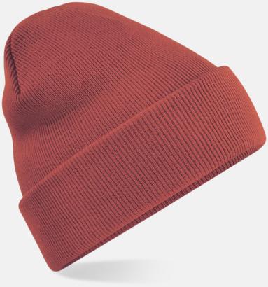 Orange Rust (2) Stickad mössa i många färgstarka alternativ