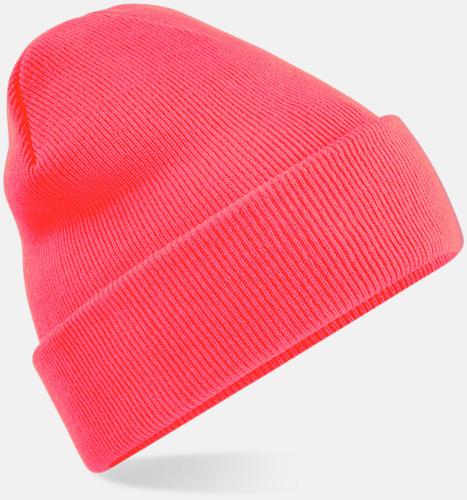 Fluorescent Pink Stickad mössa i många färgstarka alternativ