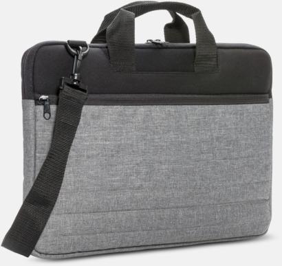 Svart / Grå Laptopfodral med axelrem med reklamtryck