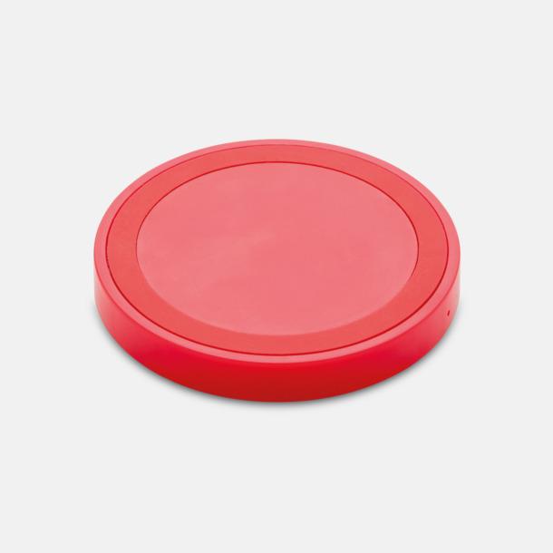 Röd Trådlösa laddare på 5W - med reklamtryck