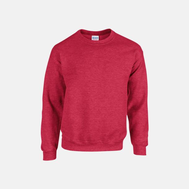 Heather Sport Scarlet Red (herr) Tröjor i många färger från Gildan med reklamtryck