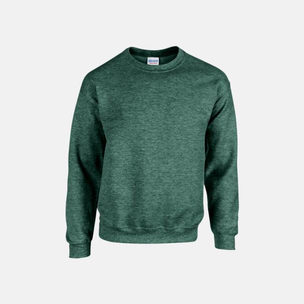 Heather Sport Dark Green (herr) Tröjor i många färger från Gildan med reklamtryck