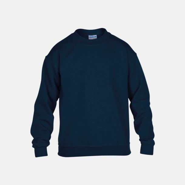 Marinblå (barn) Tröjor i många färger från Gildan med reklamtryck