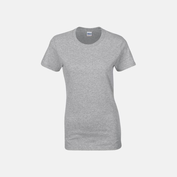 Graphite Heather (dam) Fina bomulls t-shirts för herr, dam & barn med reklamtryck