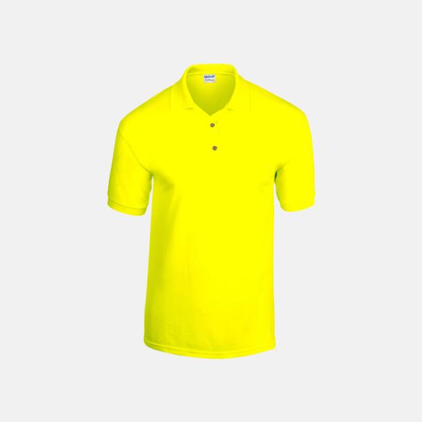 Safety Green Billiga herrpikétröjor med tryck