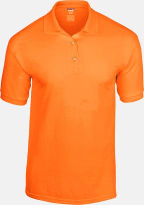 Safety Orange Billiga herrpikétröjor med tryck