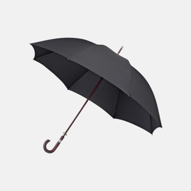 Svart Stormsäkra Paraplyer med tryck